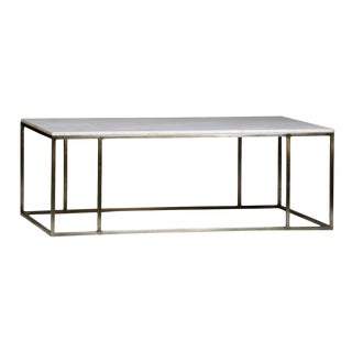 White Marble Top Coffee Table For Sale