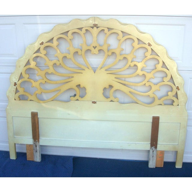 Wood Genova Furniture Co. French Provincial Headboard For Sale - Image 7 of 7