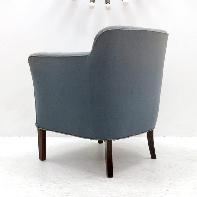 1940s 1940 Fritz Hansen Club Chairs 'Model 1146' - a Pair For Sale - Image 5 of 12