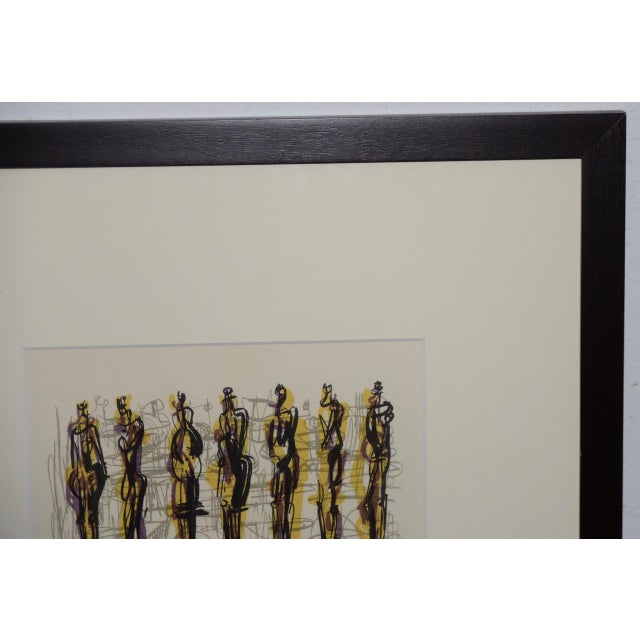 "Abstract 1958 Henry Moore ""Thirteen Standing Figures"" Original Lithograph For Sale - Image 3 of 9"