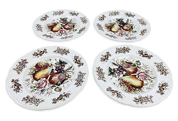 Pomegranate English Dessert Plates - Set of 4  sc 1 st  Chairish & Givenchy Parfums Dessert Plates - Set of 4 | Chairish