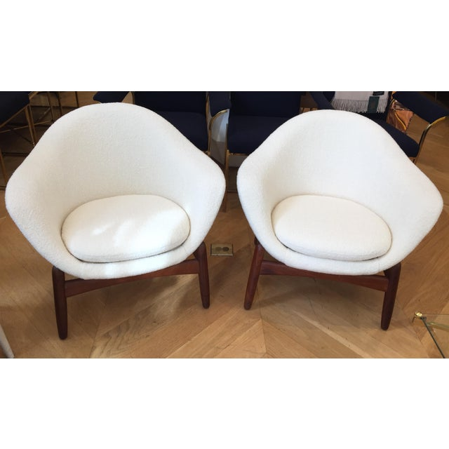 "Mid-Century Ib Kofod-Larsen ""Pot"" Chairs- a Pair For Sale - Image 9 of 10"