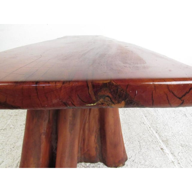 Wood Live Edge Tree Slab Coffee Table or Bench For Sale - Image 7 of 11