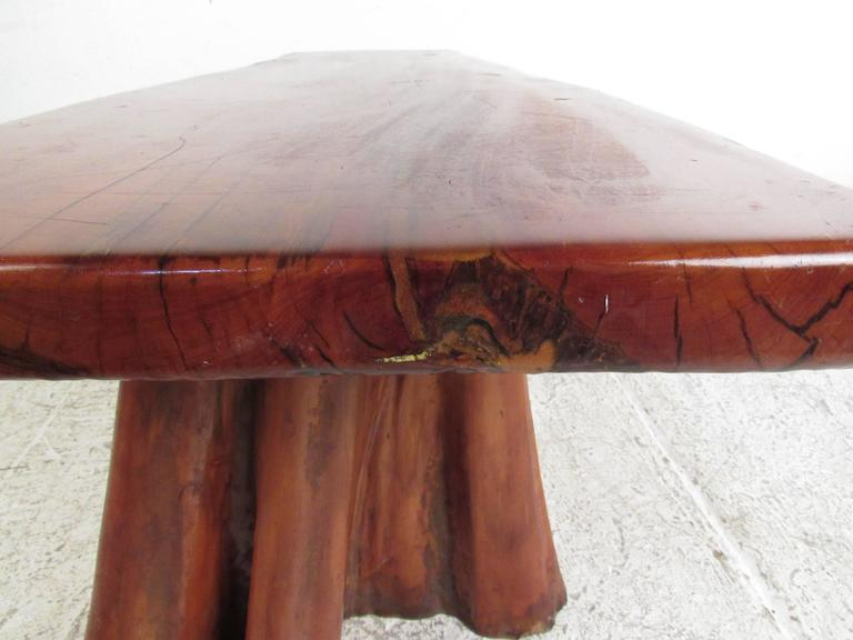 Wood Live Edge Tree Slab Coffee Table Or Bench For Sale   Image 7 Of 11