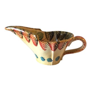 1950s Hand Painted Italian Majolica Creamer For Sale