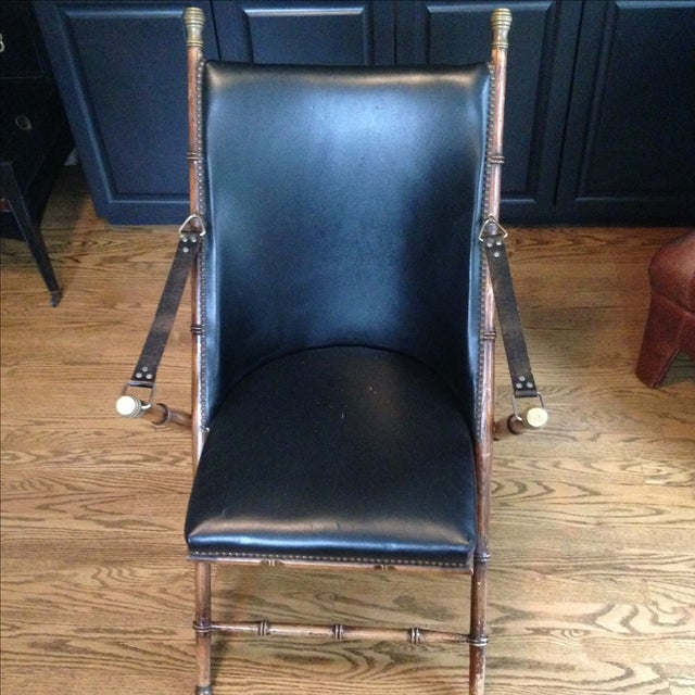 Antique Folding Campaign Chair - Image 2 of 7