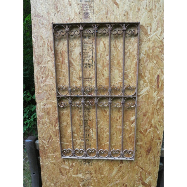 Antique Victorian Iron Gate Window Garden Fence Architectural Salvage - Image 2 of 6