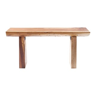 Small Live Edge Acacia Wood Bench or Coffee Table For Sale