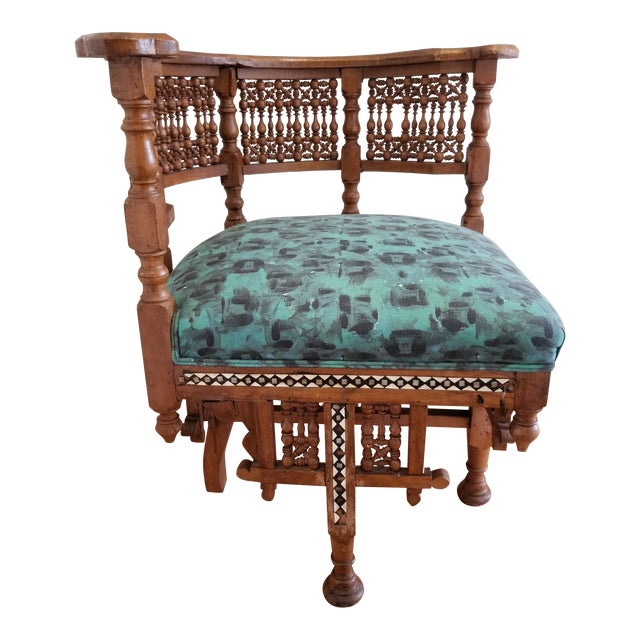 Early 20th Century Moroccan Side Chair For Sale