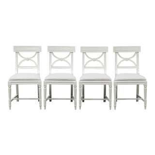 Gustavian Bellman Chairs - Set of 4 For Sale