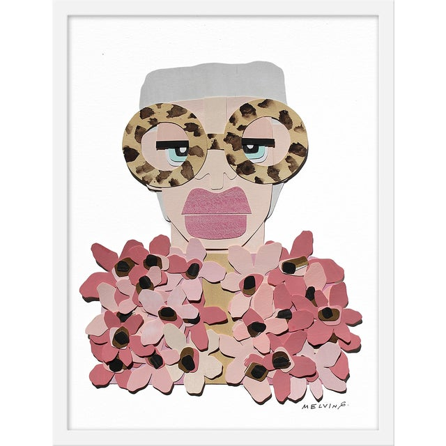 """Medium """"Iris With Pink Flower Jacket"""" Print by Melvin G., 19"""" X 25"""" For Sale"""