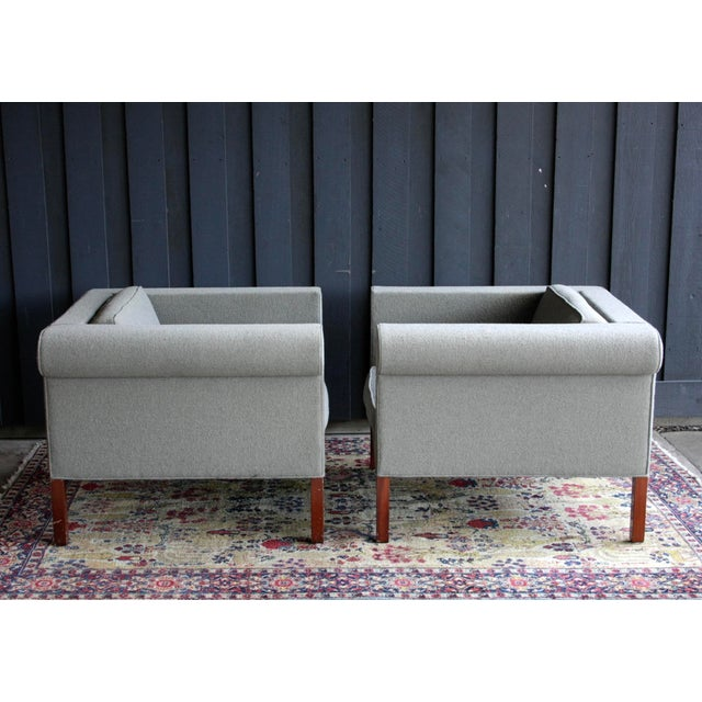 Textile Charles McMurray Postmodern Lounge Chairs, a Pair For Sale - Image 7 of 11