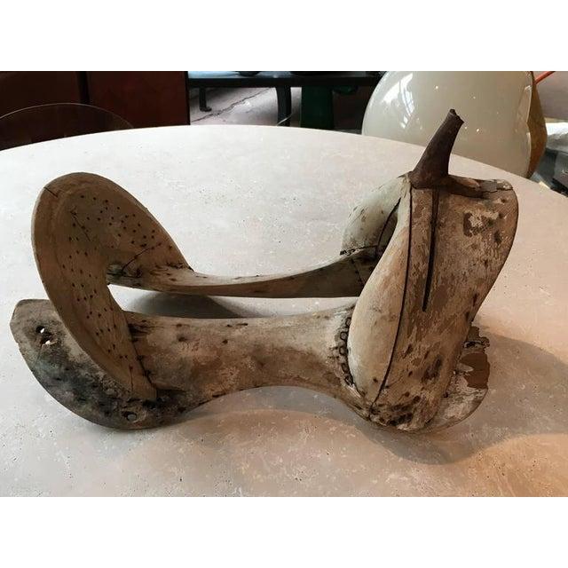 Primitive Wooden Saddle Form For Sale - Image 5 of 5