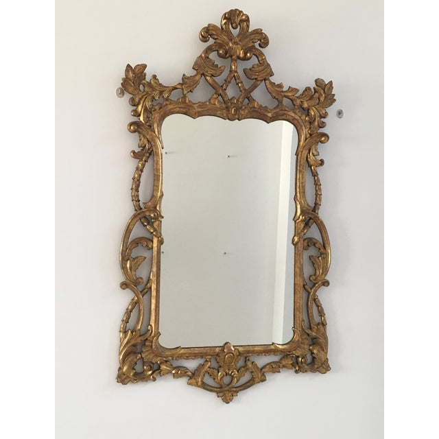 1940s Vintage Italian Gold Mirror For Sale In Miami - Image 6 of 6