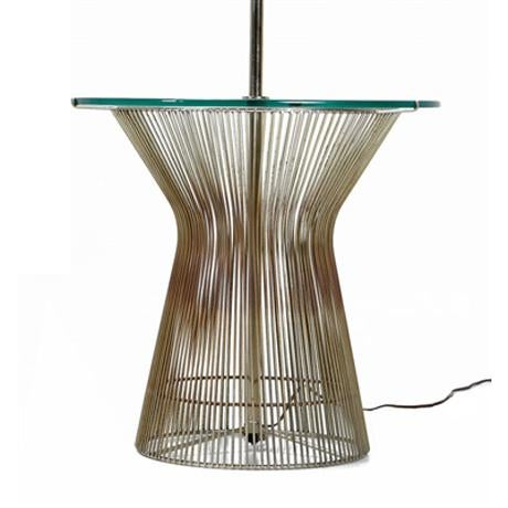 Vintage Laurel floor lamp influenced by the famous wire designs by Warren Platner for Knoll. This mid-century modern lamp...