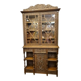 Antique 1900 Library Bookcase For Sale