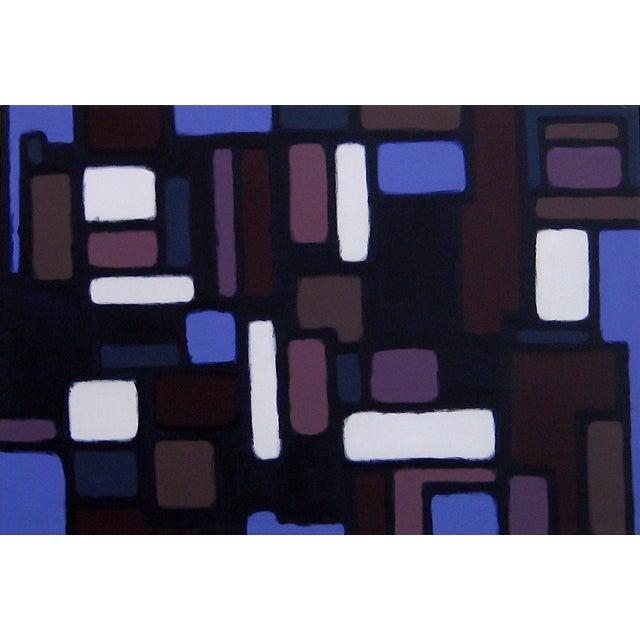 """""""Cityscene 7"""" Original Acrylic Painting - Image 1 of 3"""