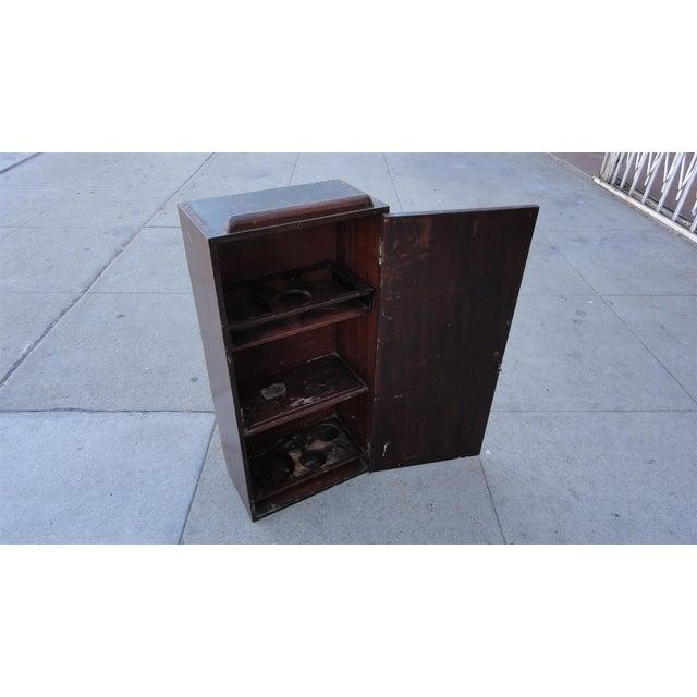 Wall Mounted Solid Mahogany Bar - Image 4 of 9