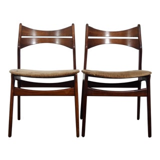 1960s Erik Buck for Christian Christensens Rosewood Dining Chairs - a Pair
