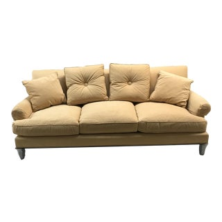 Modern Barbara Barry for Baker High Back Shelter Sofa For Sale