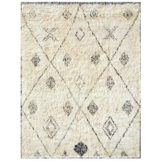 Moroccan Wool Area Rug - 6' X 8' For Sale