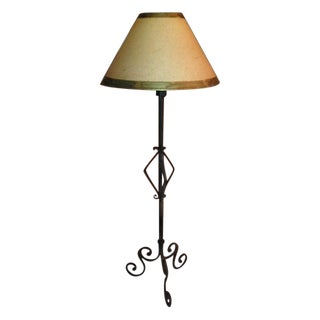 Designer Wrought Iron Standing Floor Lamp For Sale