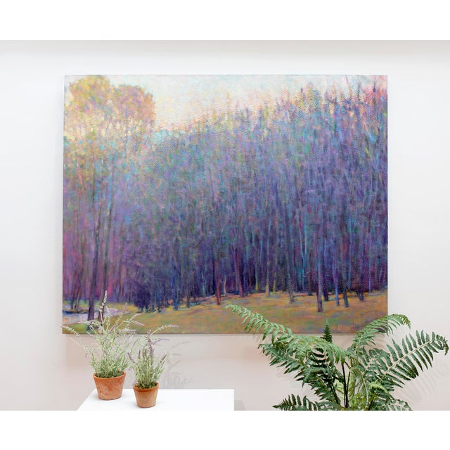 Ken Elliott, 'At the Ponds Edge, Emerging Spring' Painting, 2017 For Sale In New York - Image 6 of 7