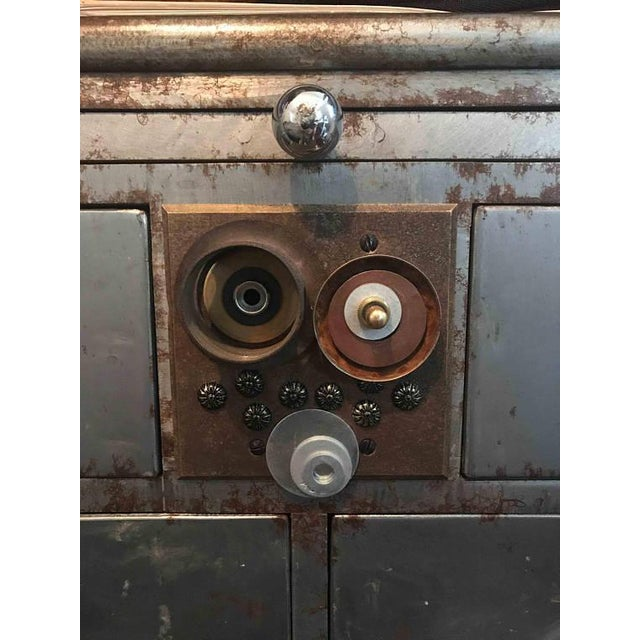 Antique Upcycled Metal Medical Cabinet - Image 6 of 6