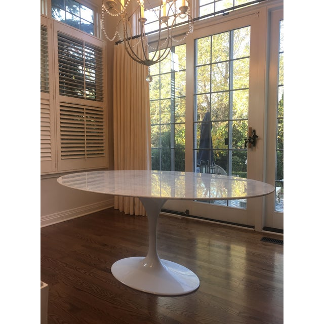 2010s Mid-Century Modern France and Son Tulip Oval Dining Table For Sale - Image 5 of 6