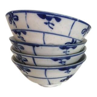 Vintage Stoneware Bowls - Set of 4