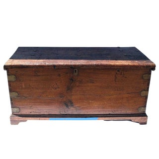 18th Century Italian Continental Cassone Trunk For Sale