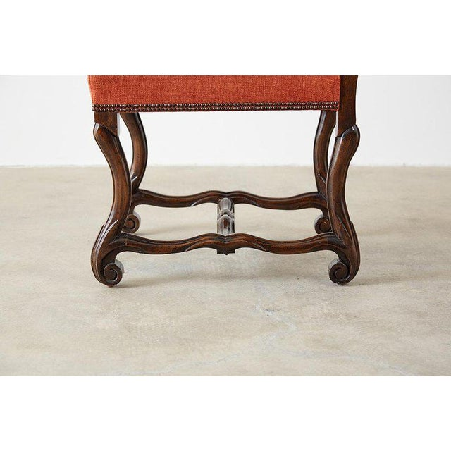 Orange Set of Sixteen French Os De Mouton Style Dining Chairs For Sale - Image 8 of 13
