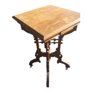 Antique Renaissance Revival Stick & Ball East Lake Table Natural For Sale