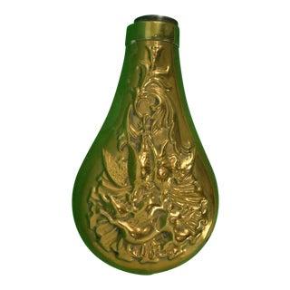 Brass Hunting Powder Flask