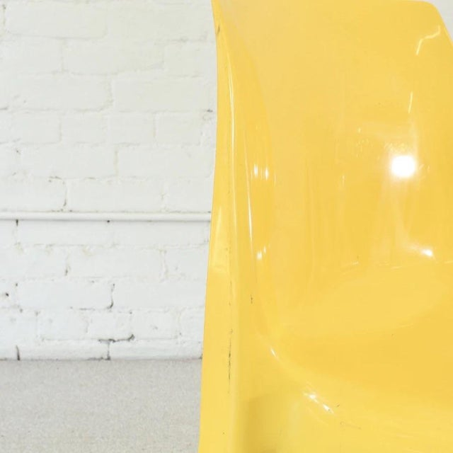 1970s Vintage Yellow Atomic Mod Chair For Sale - Image 5 of 8