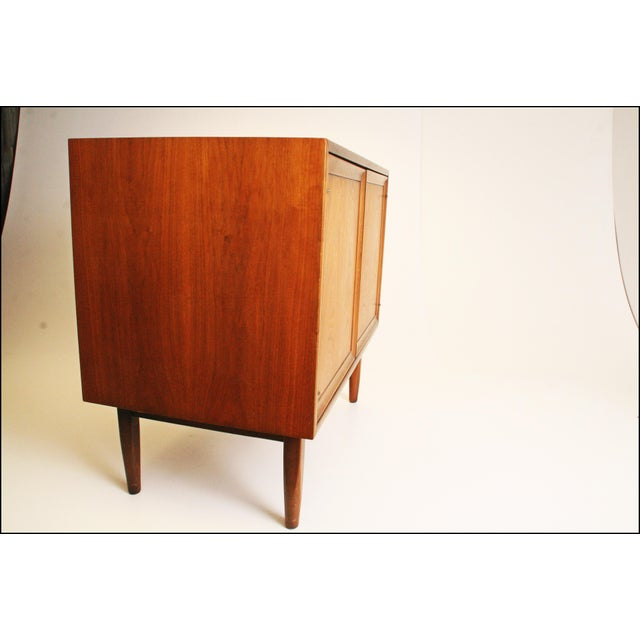 Mid-Century Modern Drexel Wood Record Cabinet - Image 5 of 11