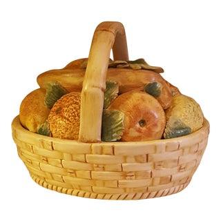 Vintage Ceramic Fruit Basket From Italy