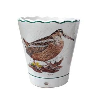 Bobwhite & Woodcock Porcelain Pot For Sale