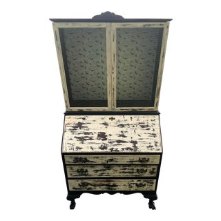 Vintage Shabby Chic Secretary Desk For Sale