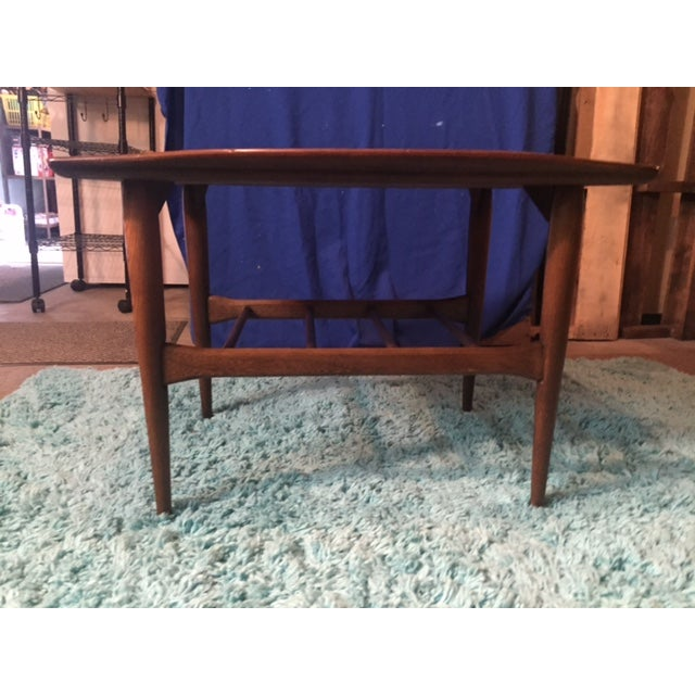 Lane Mid Century Modern Walnut Coffee Table - Image 4 of 10