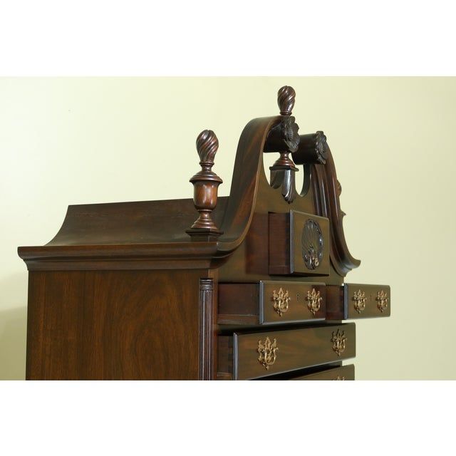 Kittinger Biggs Model 1780 Chippendale Mahogany Highboy For Sale - Image 11 of 12