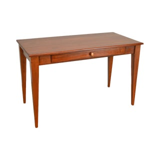 Woxall Woodcraft Hand Crafted Solid Cherry 1 Drawer Writing Desk For Sale