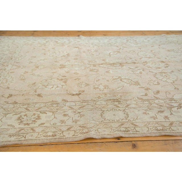 """Islamic Vintage Distressed Oushak Carpet - 7'2"""" x 12'1"""" For Sale - Image 3 of 10"""
