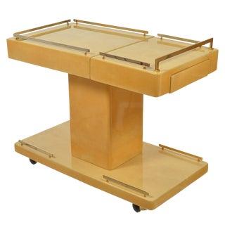 1970s Mid Century Modern Aldo Tura Bar Cart For Sale