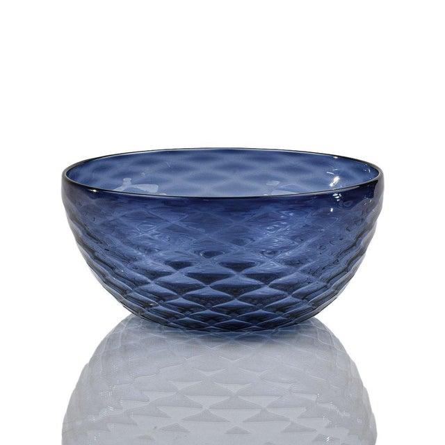 Slate Blue Diamond Cut Bowl For Sale In Sacramento - Image 6 of 6