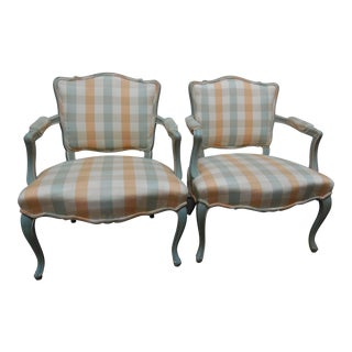 Mid-Century Louis XV Style Side Chairs - a Pair For Sale