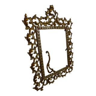 Antique 1920's Baroque Styled Picture Frame For Sale