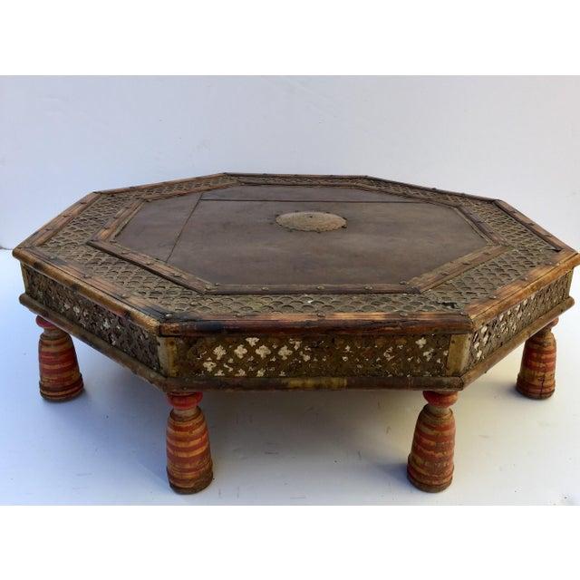 Anglo Raj Moorish Design Octagonal Low Coffee Table For Sale - Image 4 of 12
