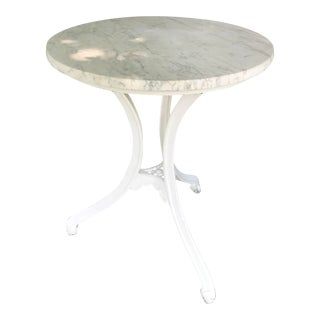 1900s French Marble Top Bistro Table For Sale