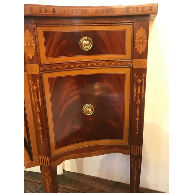 1980s 1980s Italian Colombo Mobili Superb Ornately Inlaid Mixed Wood Console For Sale - Image 5 of 11